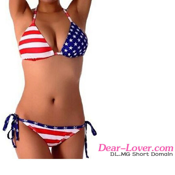 Sexy full open lady mature American Flag Two Pieces xxx photos of pakistan