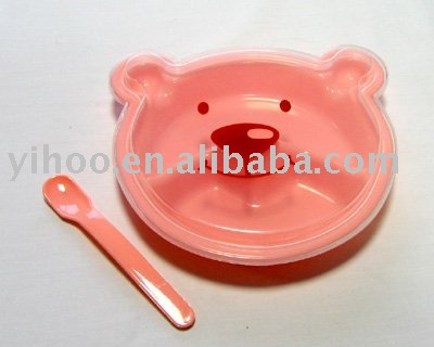 Plastic Baby Bowl With Spoon kids dinner ware set