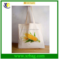 Manufacturer custom natural printing cotton canvas tote handle bags
