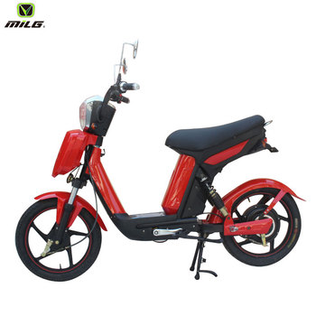 2018 hot sale 350W 18inch big wheel electric motorcycle with portable battery