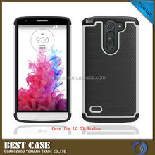 PC Silicone Hybrid Phone Case For LG G3 Stylus Gel Fitted Case Cover