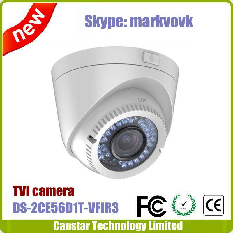 IP66 water proof Vari focal 2.8-12mm lens Hikvision TVI camera DS-2CE56D1T-VFIR3
