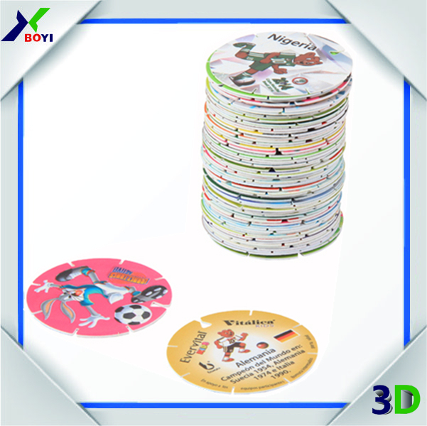 2015 Toys And Hobbies Educational Pog Game , 3D Puzzle, 3D Tazo <strong>Card</strong> For Promotion
