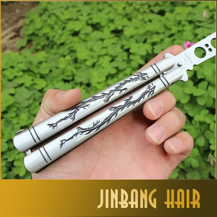 New Brand Smart Practice Balisong Butterfly Multi Functional Double Dragon Dull Knife Trainer Comb