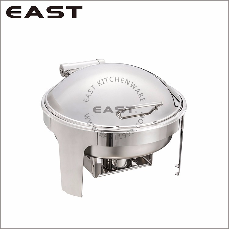 Hotel Equipment Round Chafing Dish Glass Lid/Warming Buffet Server
