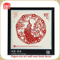 Peacock pattern Chinese folk art home and desk decor handicraft works