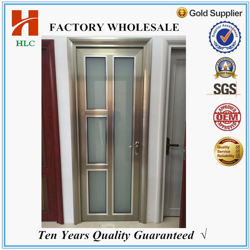 2.0mm aluminum smoked glass interior doors