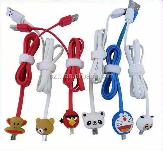 Colorful light usb cable for mobile phone