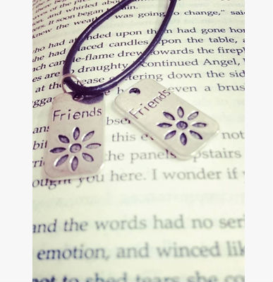 customized metal alloy friend necklace jewelry
