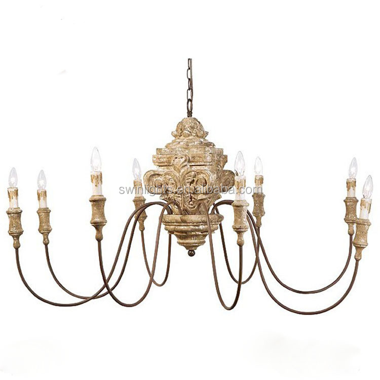 retro lighting hand carved zhongshan chandelier,8 bulbs chandelier lights for hall decorations