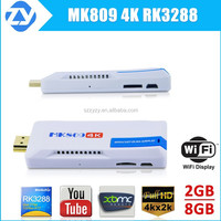 Miracast Smart Android MK809 TV Stick Built-in WIFI Media Player 4K RK3288 Quad core,XBMC KODI preinstalled