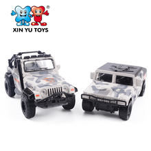 1:55 alloy pull back vehicle set model diecast military truck toy