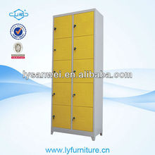 W044 6 door wardrobe steel lemari