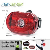 Fast & Easy To Install Rear Bike Light 3 LED Safety Bicycle Rear Tail Light