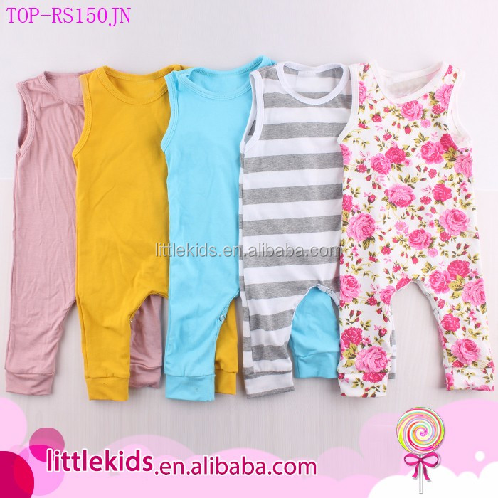 Wholesale Baby Clothes Romper Carter ' s Baby Kids Boy Girl Infant Summer Tank Romper Jumpsuit Bodysuit Cotton Clothes Outfit