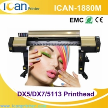 Hot sale 6 feet double 5113 heads digital flex banner pvc edge banding printing machine