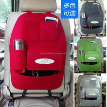 Simple Felt Car Back Seat Organizer, Beverage Book Toy Back Car Seat Organizer Bag