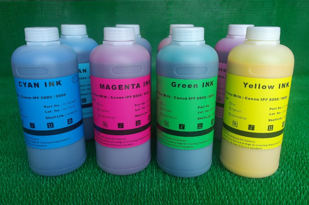 New Vivid Color Aqueous Pigment Ink For Canon Ipf 8000 9000 Pigment Ink