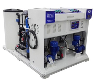 Portable water treatment system of chlorine generation system