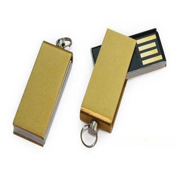 2017 Hot selling Bulk Waterproof Swivel mini usb stick Flash drive with customized logo 1GB 2GB 16GB
