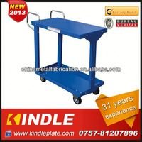 With 2 handles and 4 wheels Blue color Kindle food service cart