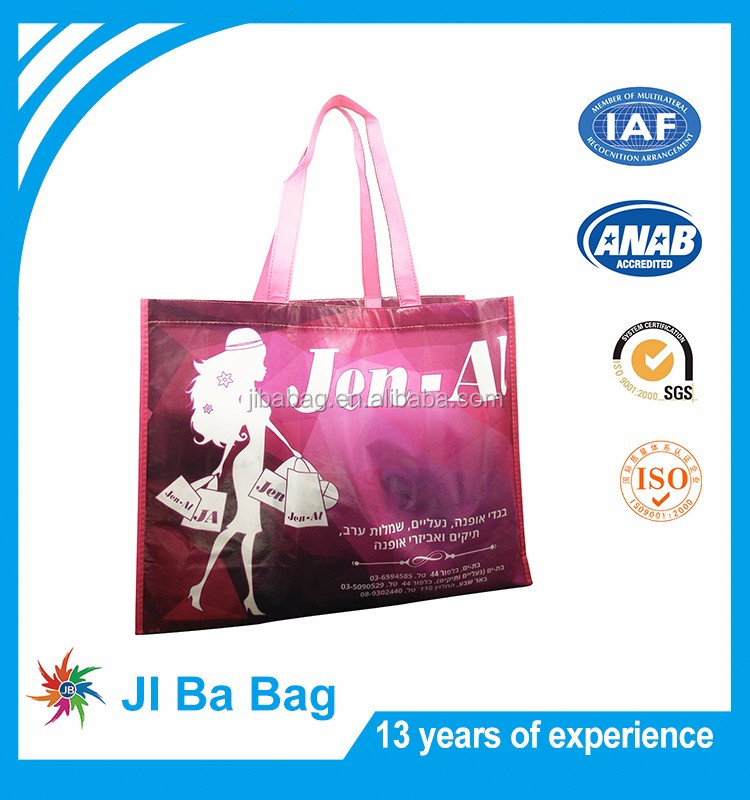 Full color lamination printed Non woven fabric reusable shopping bag