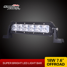 NEW 7inch Single Row LED light bar cree 18w truck roof off road tractor light bar