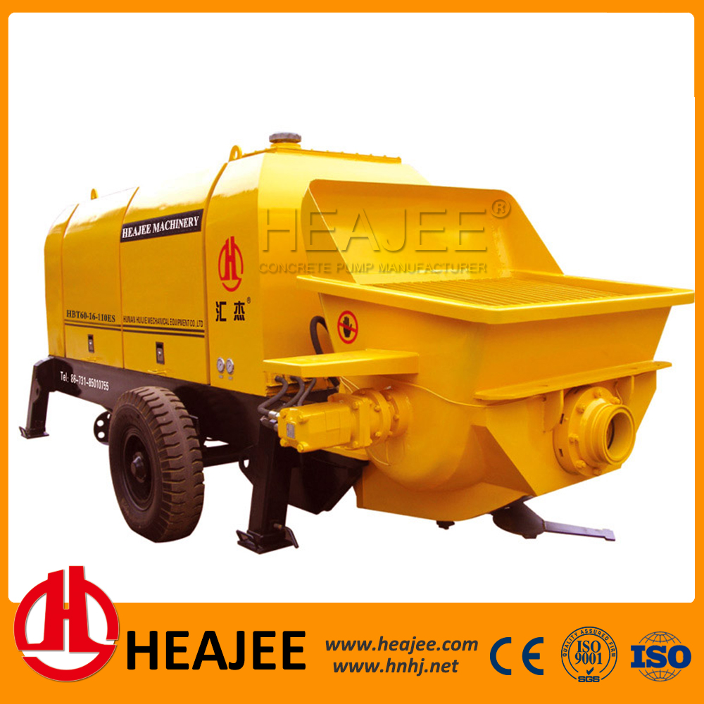 concrete trailer pump cement concrete