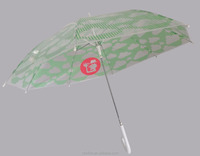 21inch auto open POE material long oem print umbrella