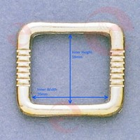 Different Inch Size and Colour Metal Bag Hardware Square Ring