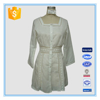 2016 New Style White National Style Long Sleeve Dress For Women