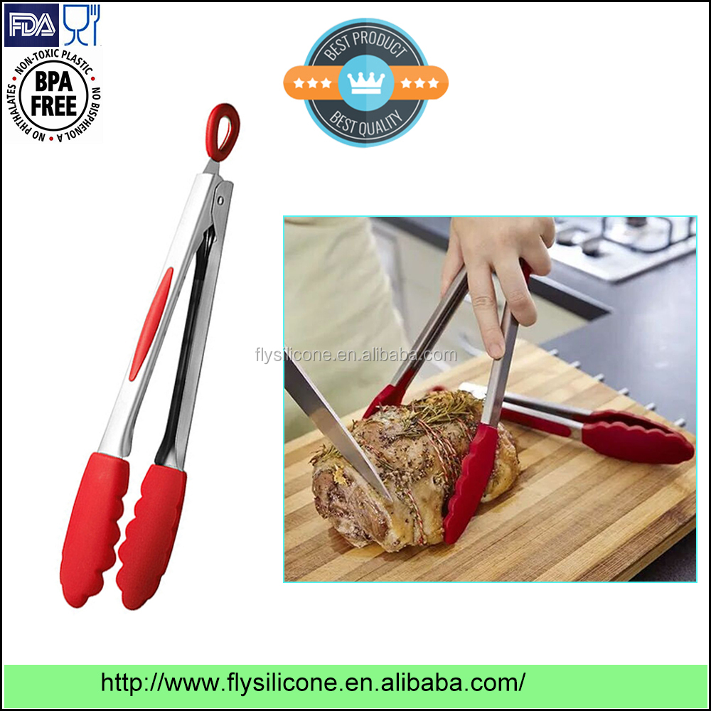 FDA LFGB Approved Non-stick Good Serving and Feeding Kitchen Tongs