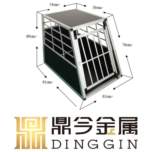 Dog transport aluminum cage