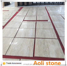 Beige Silver hole marble wood grain straight travertine tile