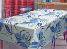 oxford print table cloth with flower pattern 140*240cm