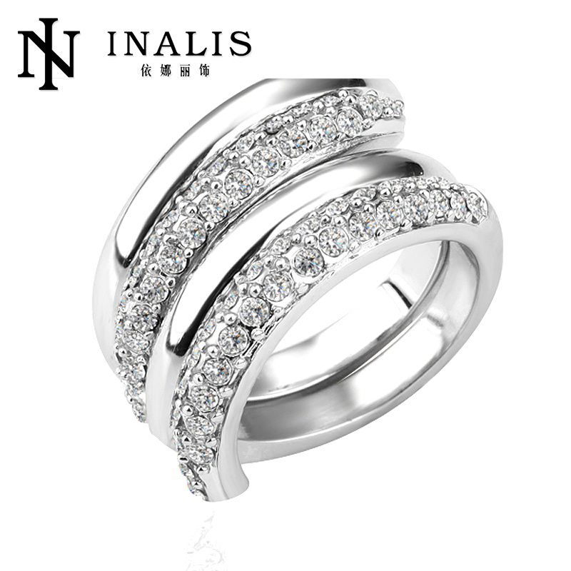 Lekani pave setting fashion diamond ring for boys