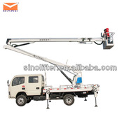 14m truck mounted arm lift/articulated boom vehicle