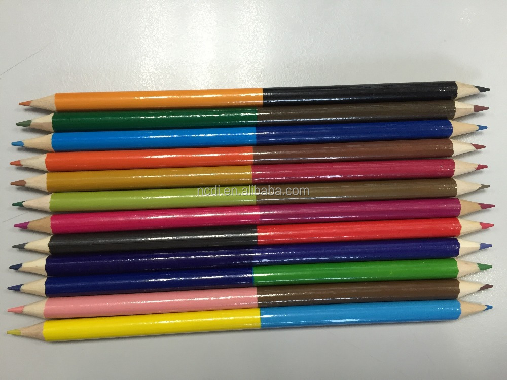 Wooden dual tips colored pencil