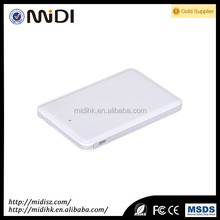 beautiful super slim credit card type power bank 4600mah-8000mah mini gift power bank build in cable