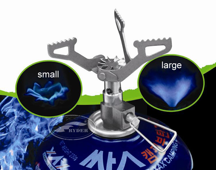 Ultralight Mini Titanium Camping Gas Stove Butane Burner for Backpacking