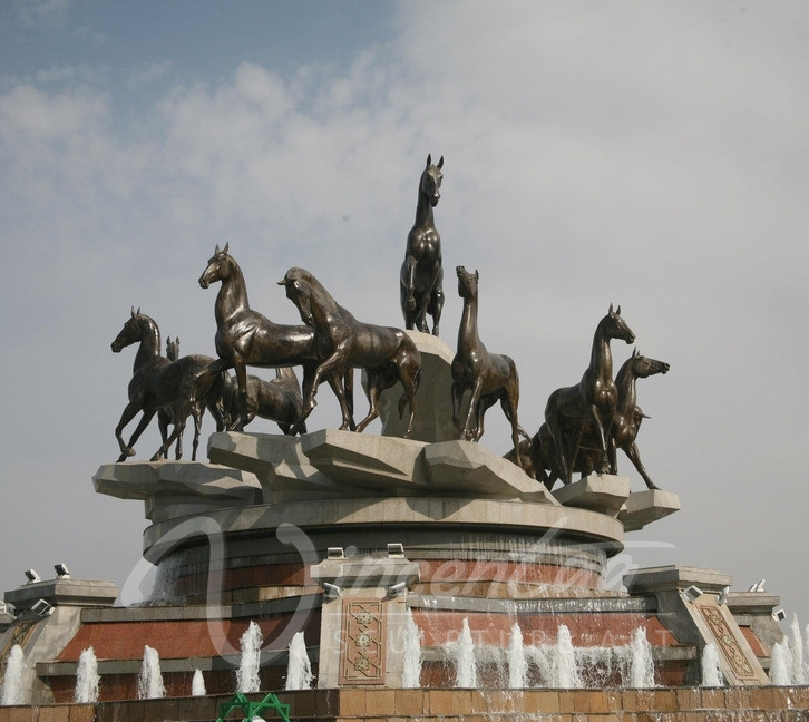 Popular Outdoor Water Horse Fountain with Horses (foundry directly supplying)