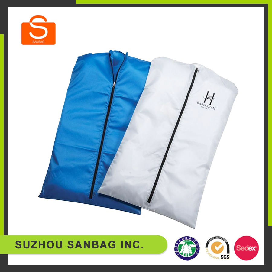 Hot Sale top quality polyester foldable garment bag/suit cover
