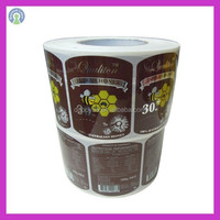 Waterproof customized adhesive plastic container label for food