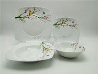 High quality square shape 30pcs porcelain dinnerware , factory directly