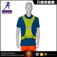 Reflective sport vest with LED light, safety running reflective vest