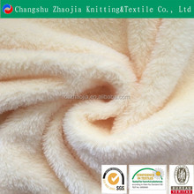 OEKO TEX CERTIFICATE knitting factory 100 polyester faux rabbit fur fabric wholesale from China manufacture