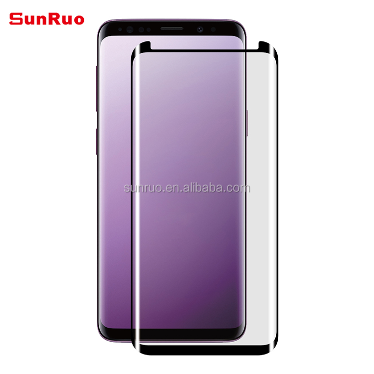 3D Curved Full Glue Tempered Glass for S9 Full Adhesive Screen Protector with Easy Installation Tray