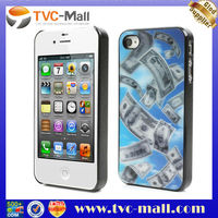 3D Effect US Dollar Pattern for iPhone 4 4S Back Case