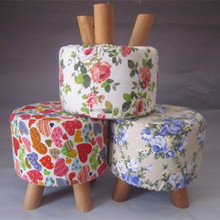 washable wooden small stool ottoman wood foot stool