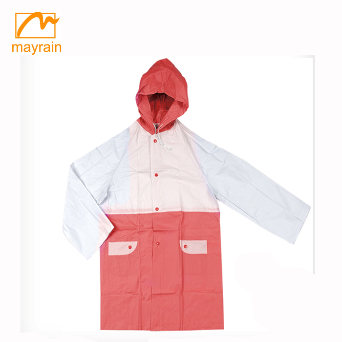 outdoor light weight hooded raincoat